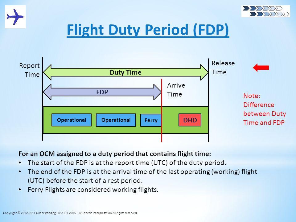 Flight Duty Period (FDP)