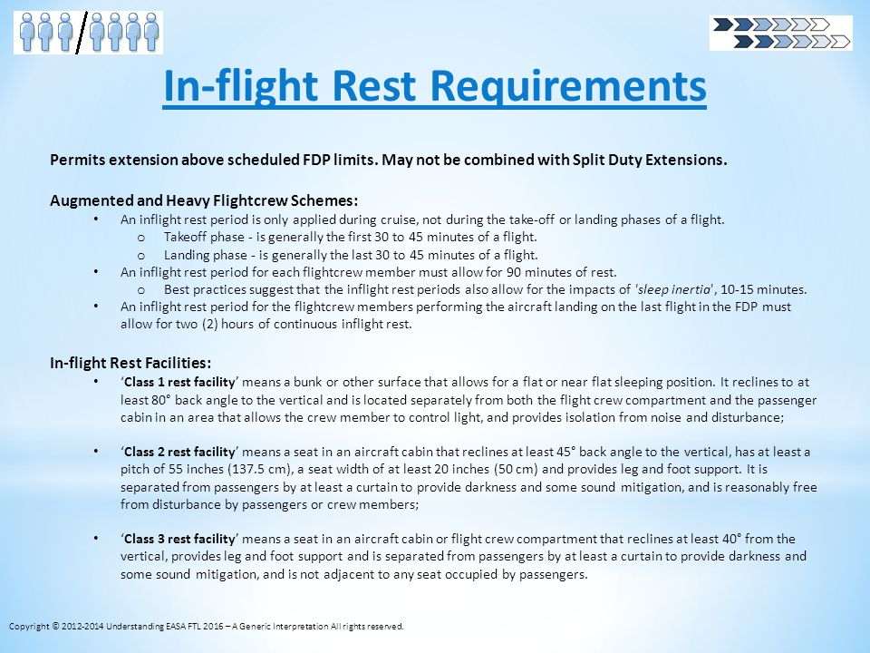 In-flight Rest Requirements