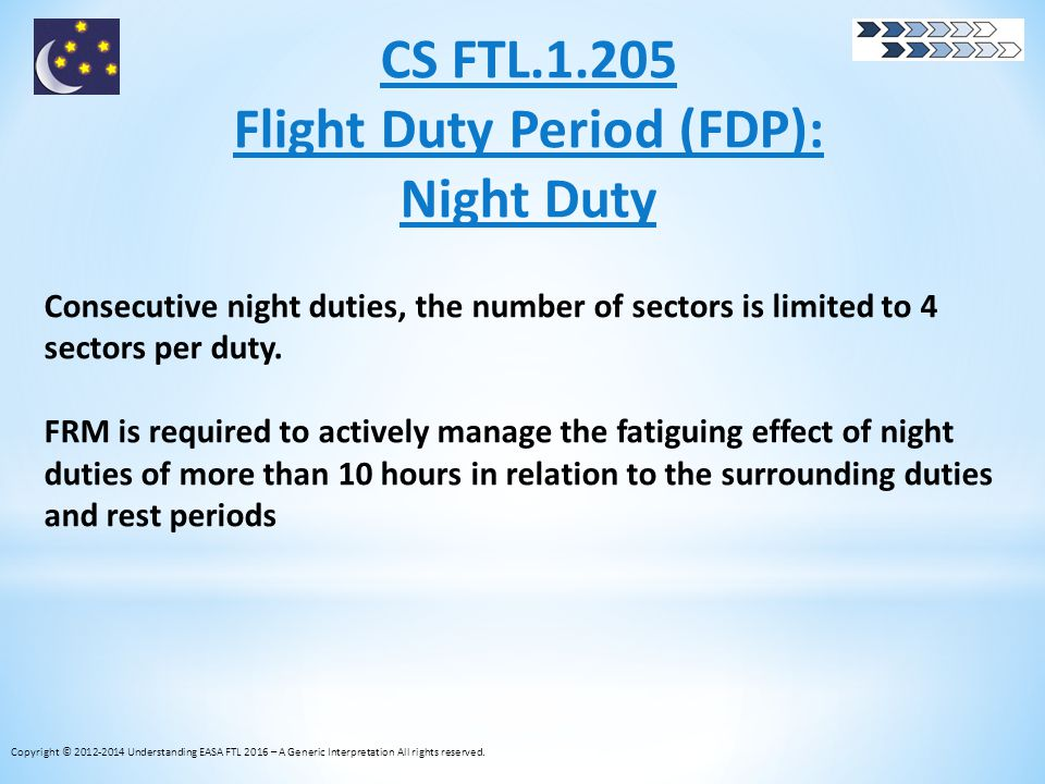 Flight Duty Period (FDP):