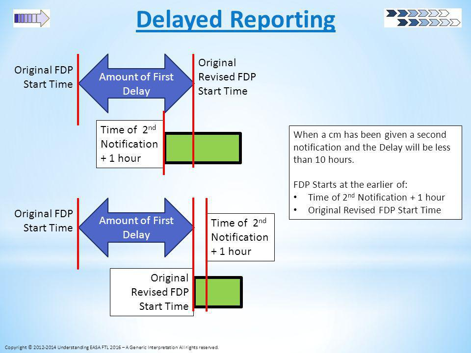 Delayed Reporting Original Revised FDP Start Time