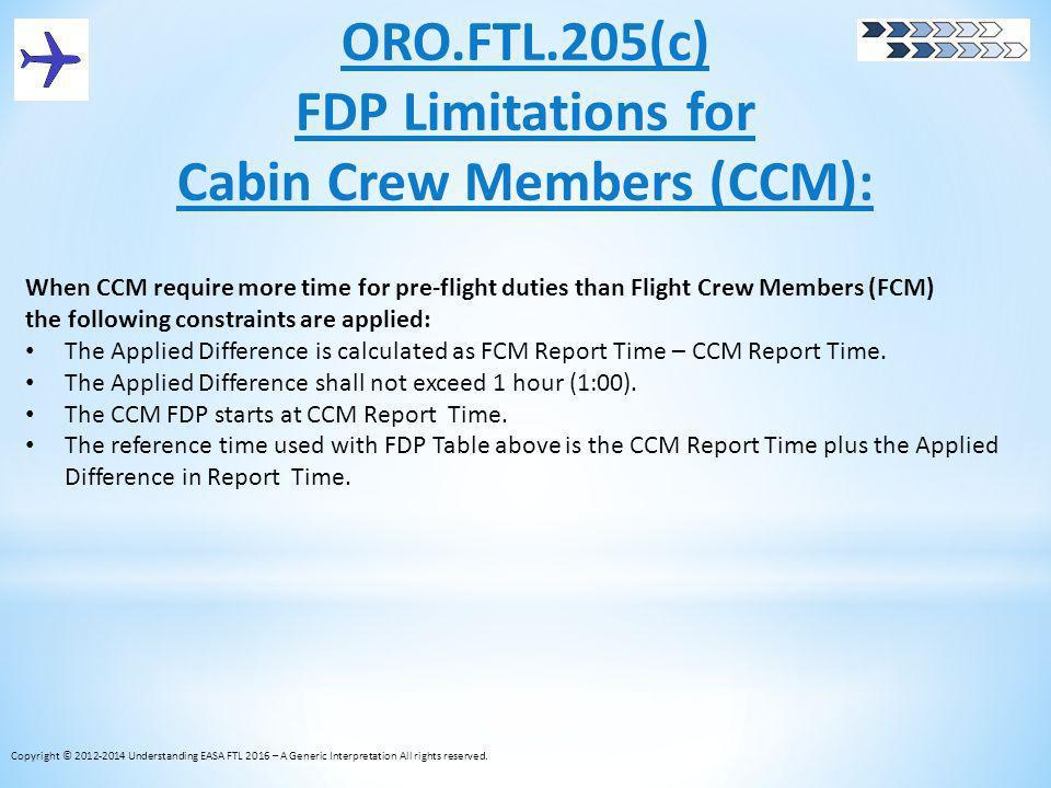 Cabin Crew Members (CCM):