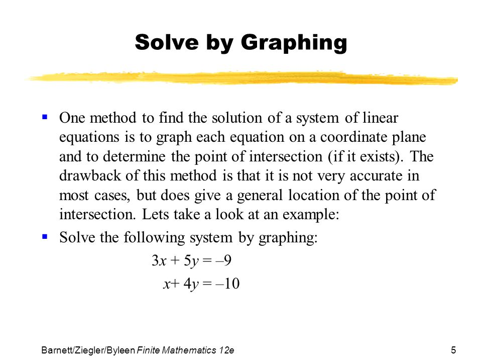 Solve by Graphing