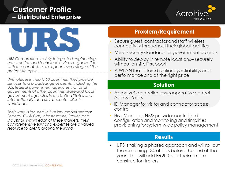 Customer Profile – Distributed Enterprise
