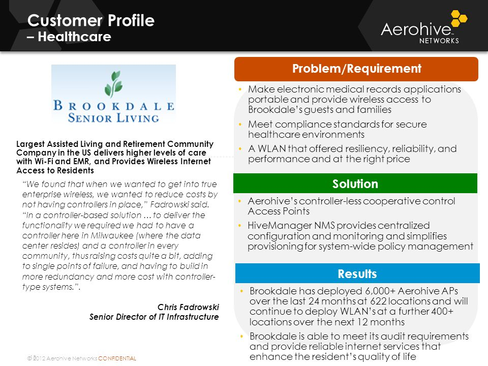 Customer Profile – Healthcare