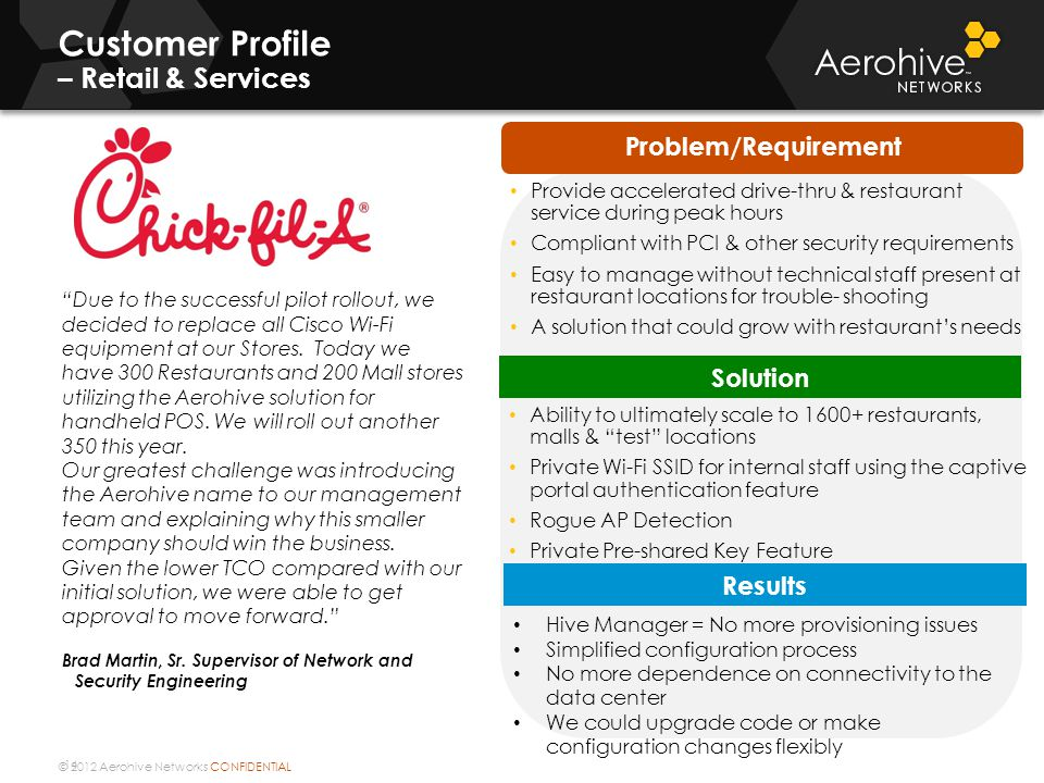 Customer Profile – Retail & Services