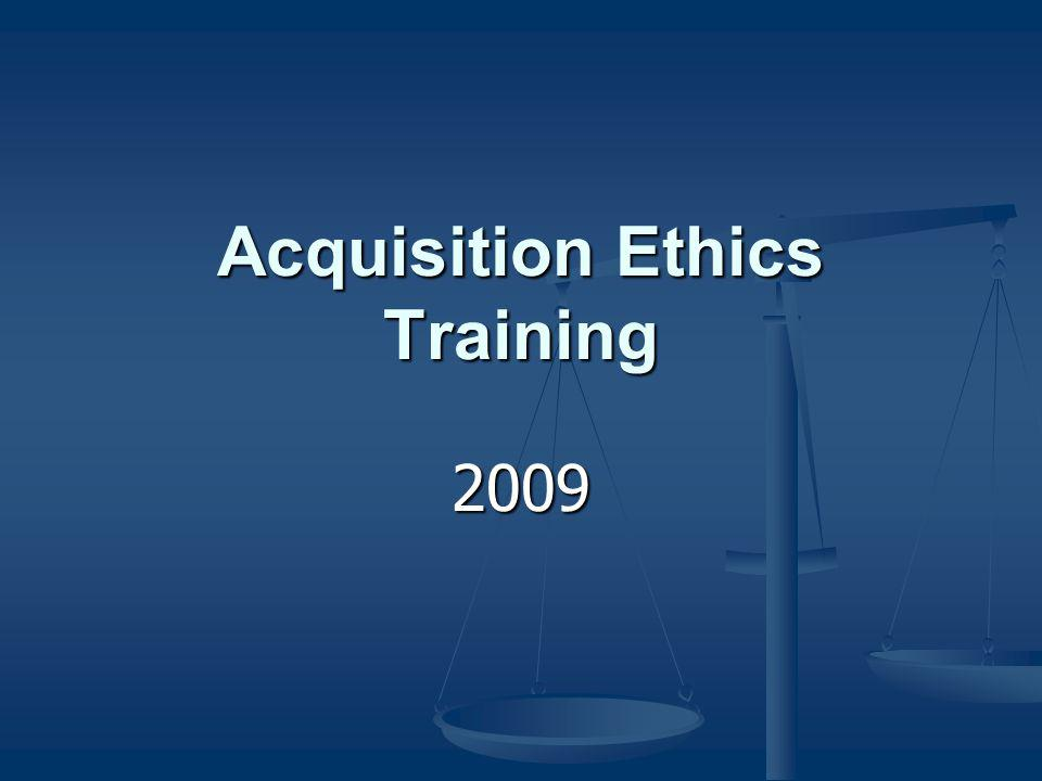 Acquisition Ethics Training