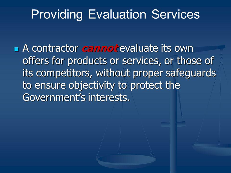 Providing Evaluation Services