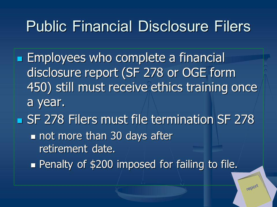 Public Financial Disclosure Filers