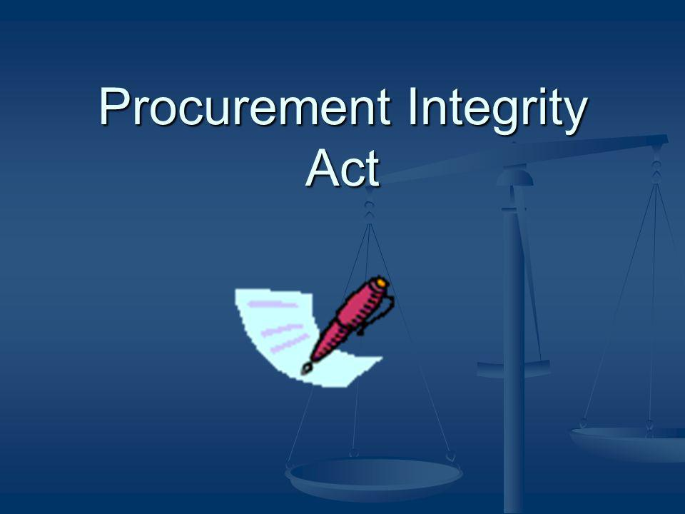 Procurement Integrity Act