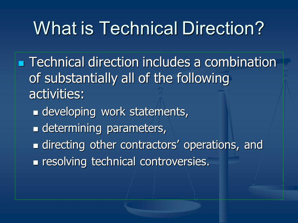 What is Technical Direction