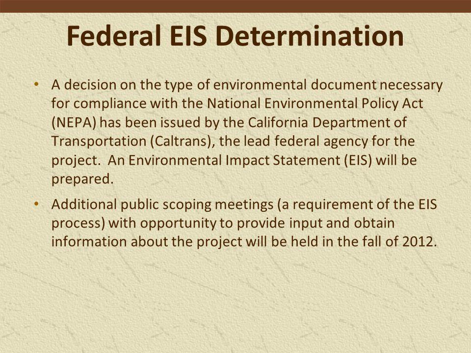 Federal EIS Determination