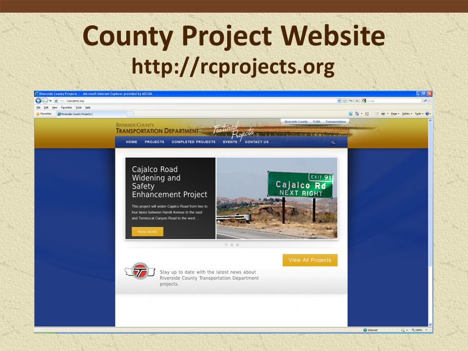 County Project Website