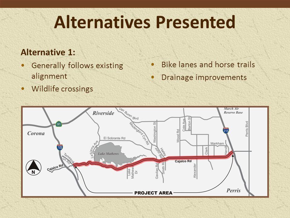 Alternatives Presented