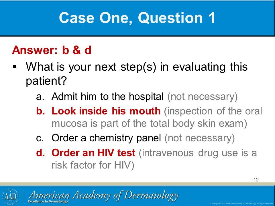 Case One, Question 1 Answer: b & d