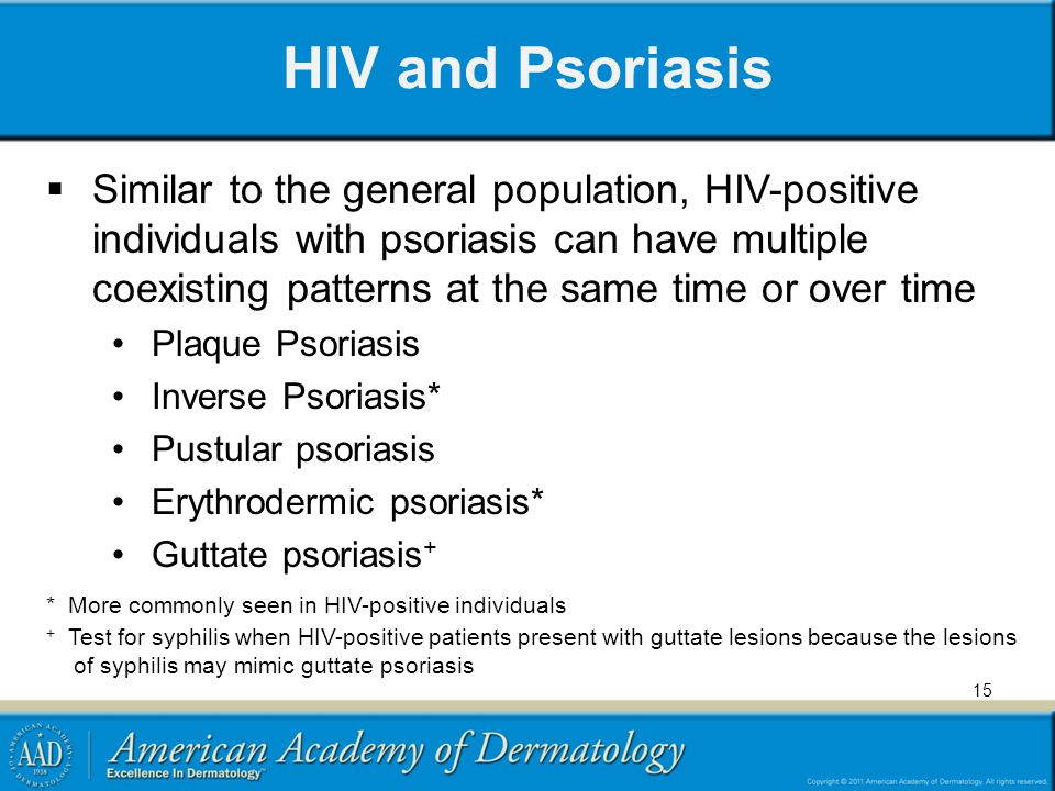 HIV and Psoriasis