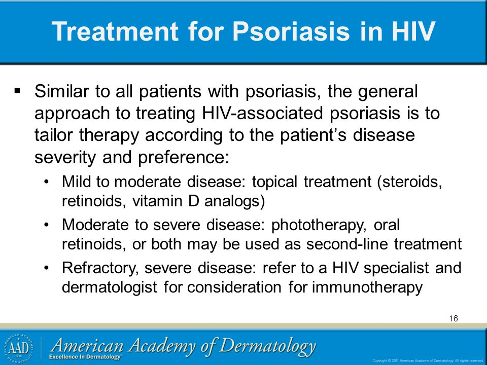 Treatment for Psoriasis in HIV