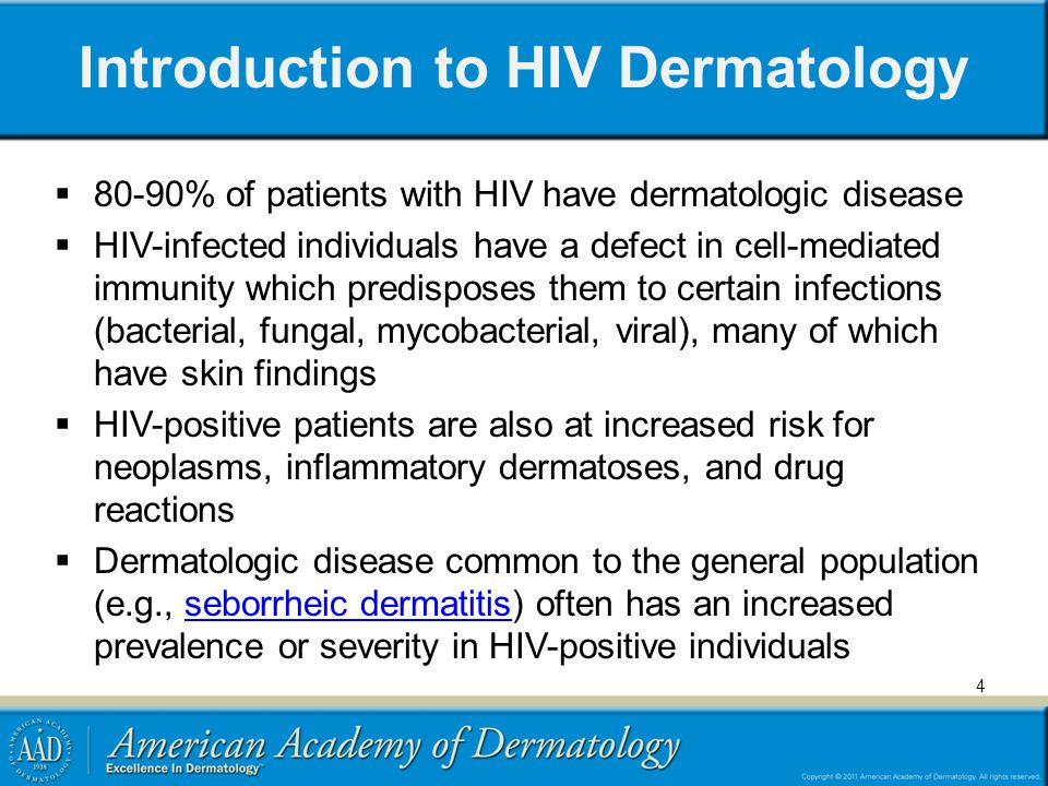 Introduction to HIV Dermatology