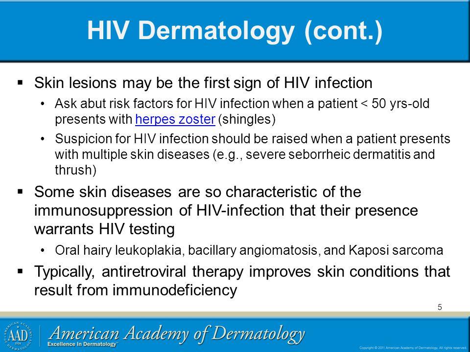 HIV Dermatology (cont.)