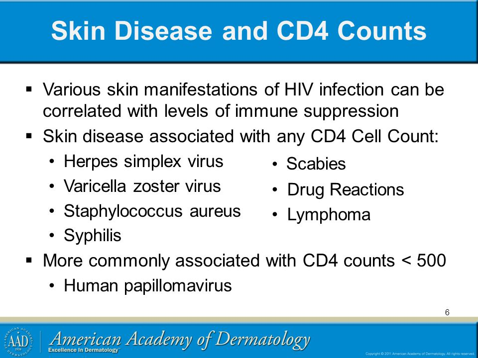 Skin Disease and CD4 Counts