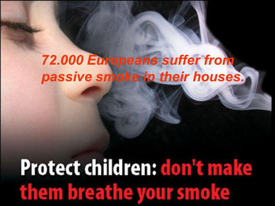 72.000 Europeans suffer from passive smoke in their houses.