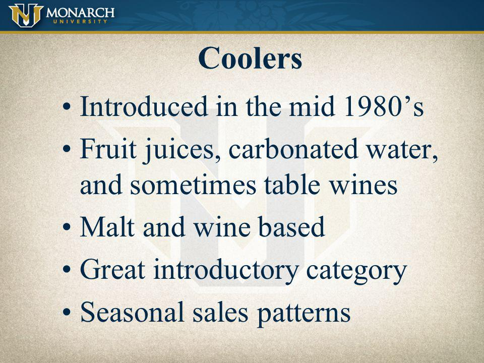 Coolers Introduced in the mid 1980's