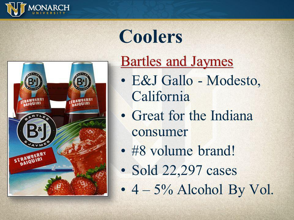 Coolers Bartles and Jaymes E&J Gallo - Modesto, California
