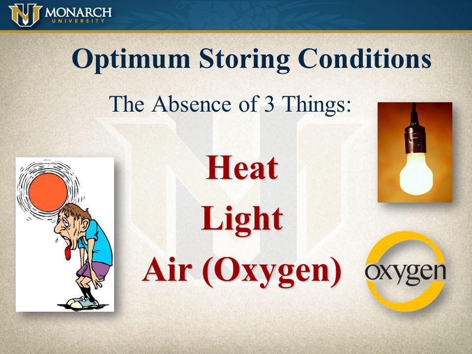 Optimum Storing Conditions