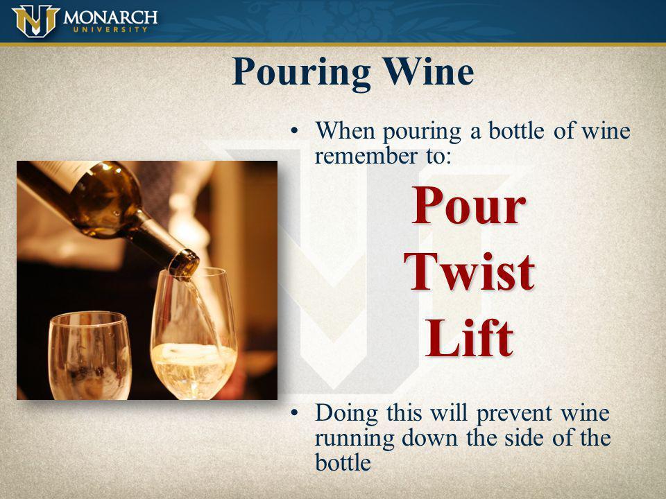 Pour Twist Lift Pouring Wine