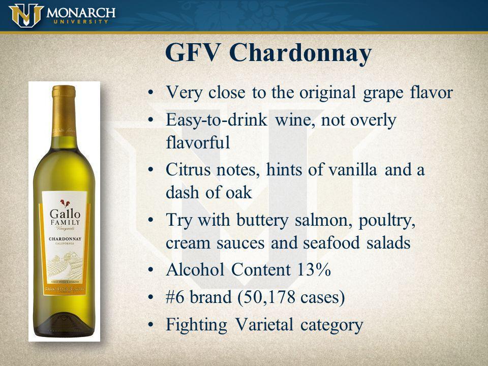 GFV Chardonnay Very close to the original grape flavor