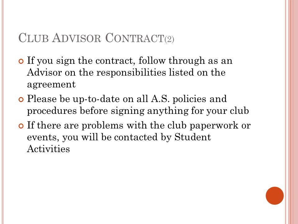 Club Advisor Contract(2)