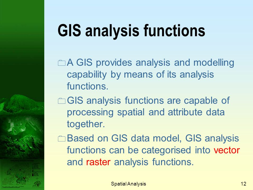GIS analysis functions
