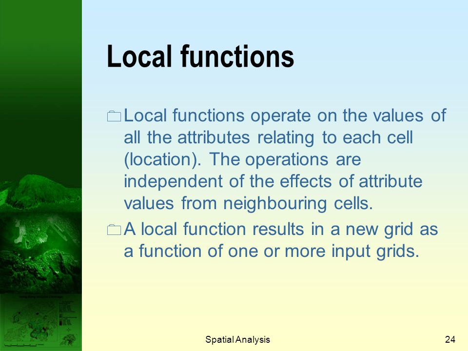 Prof. Qiming Zhou Local functions.