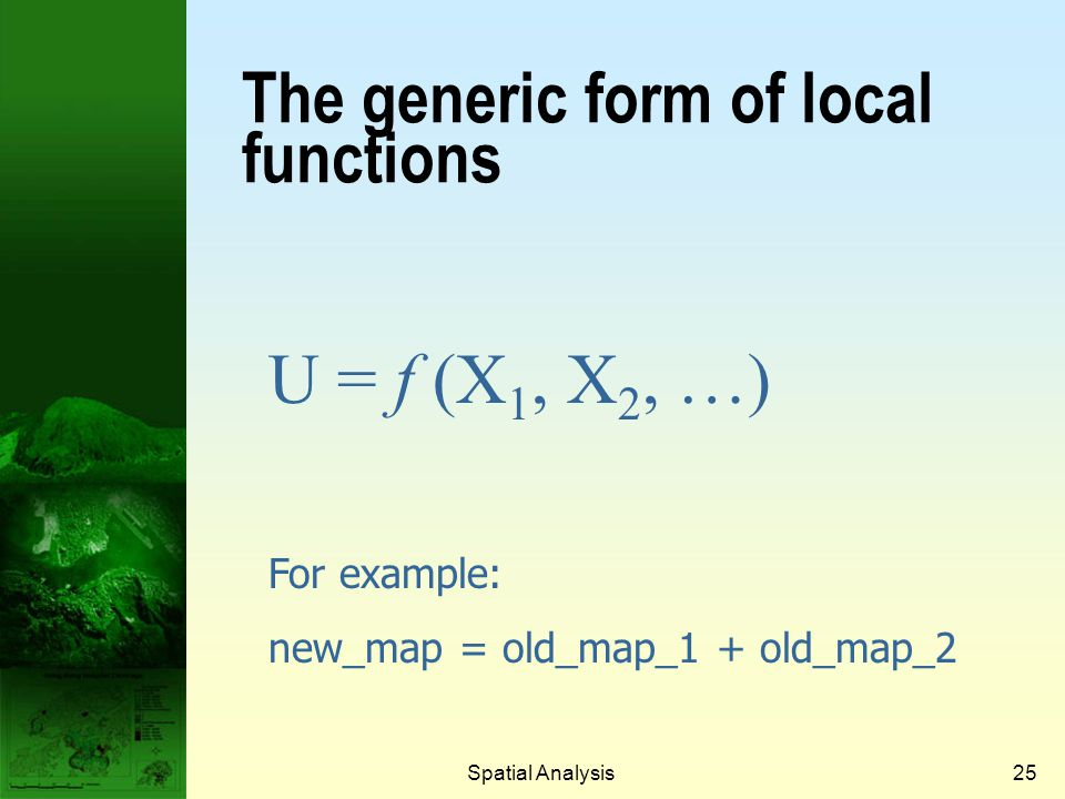 The generic form of local functions