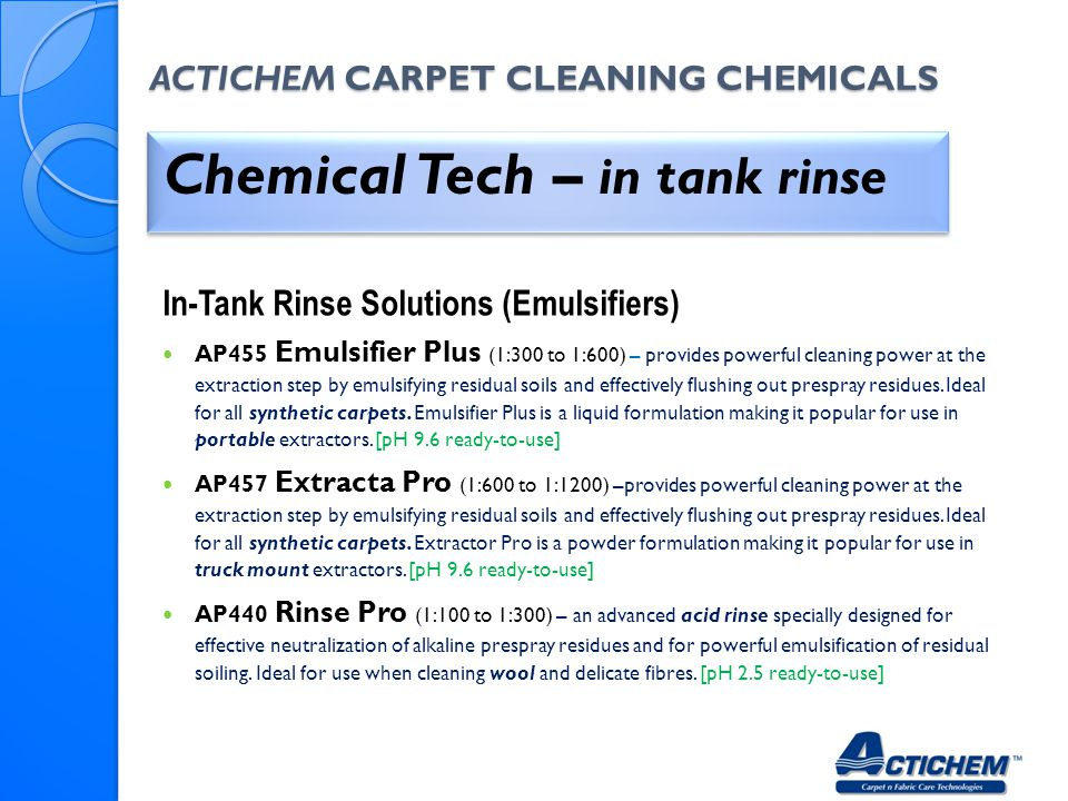 Actichem Carpet Cleaning Chemicals