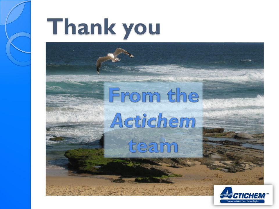 Thank you From the Actichem team
