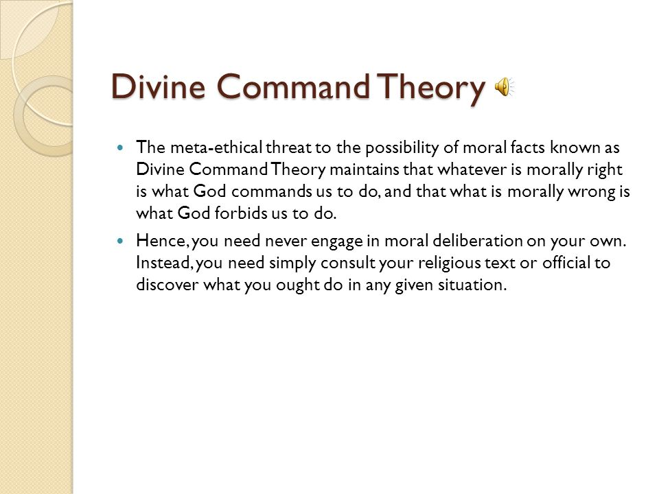 Divine Command Theory