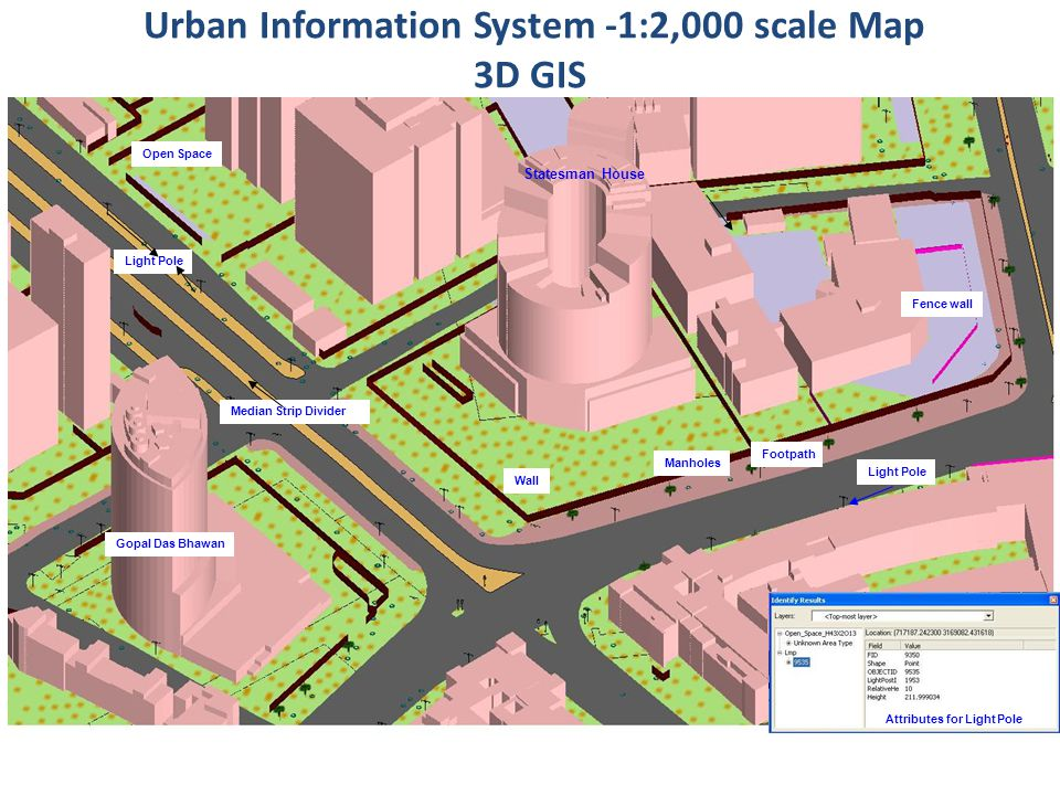 Urban Information System -1:2,000 scale Map 3D GIS