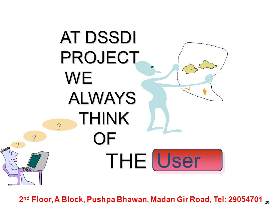 THE User AT DSSDI PROJECT WE ALWAYS THINK OF Map