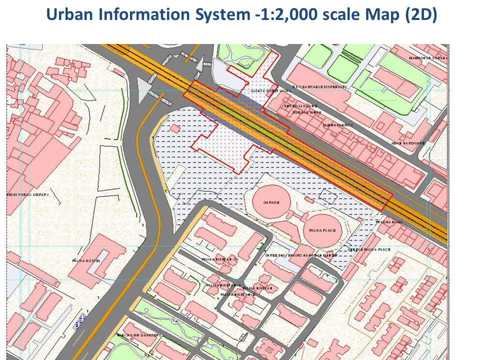 Urban Information System -1:2,000 scale Map (2D)