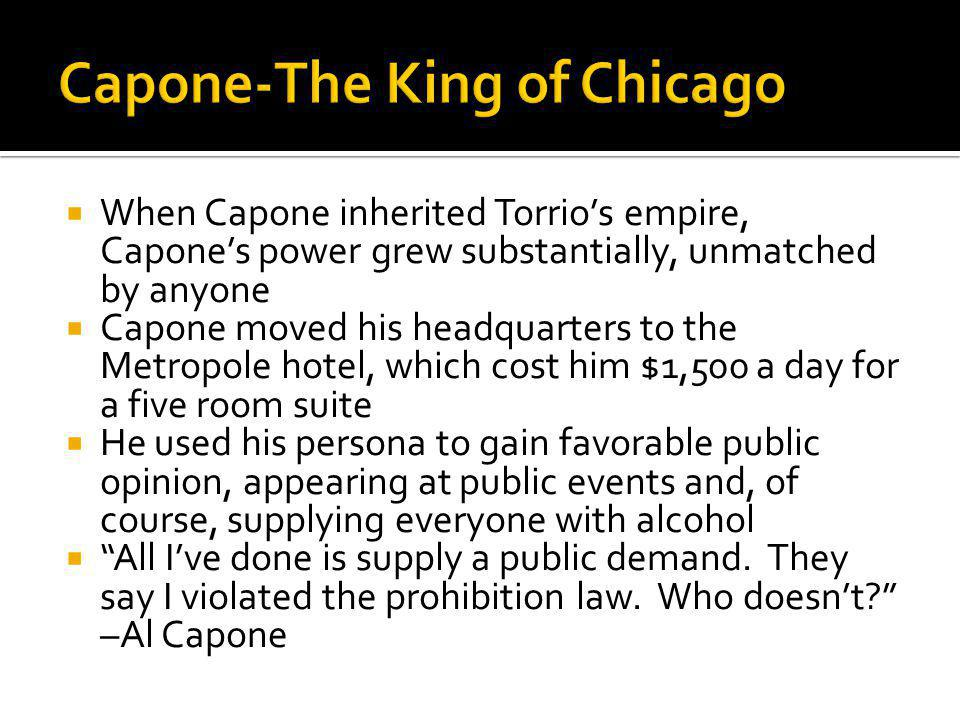 Capone-The King of Chicago
