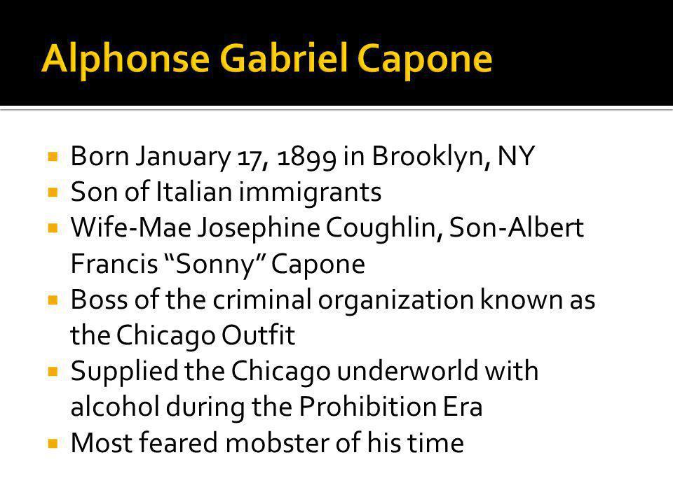 Alphonse Gabriel Capone