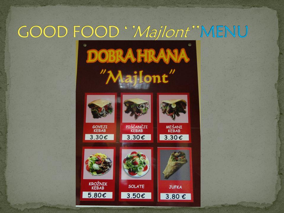 GOOD FOOD ''Majlont'' MENU