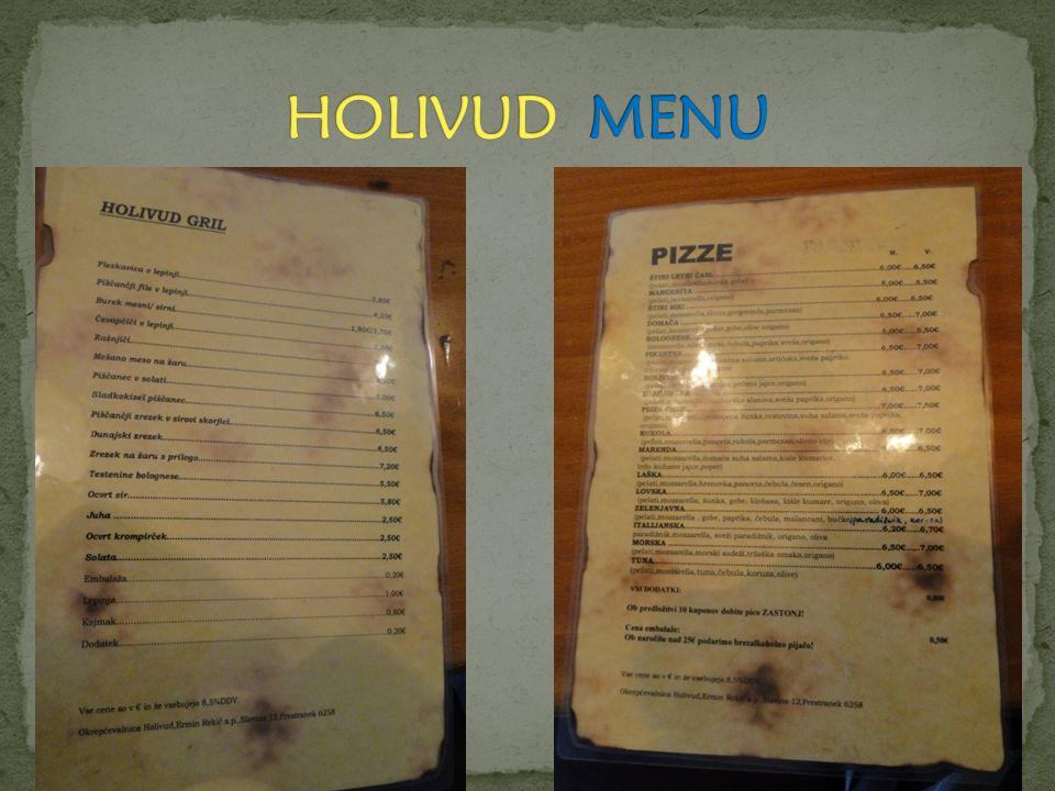 HOLIVUD MENU
