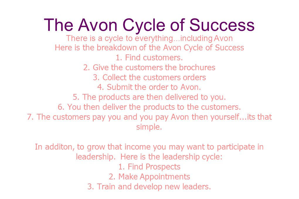 The Avon Cycle of Success