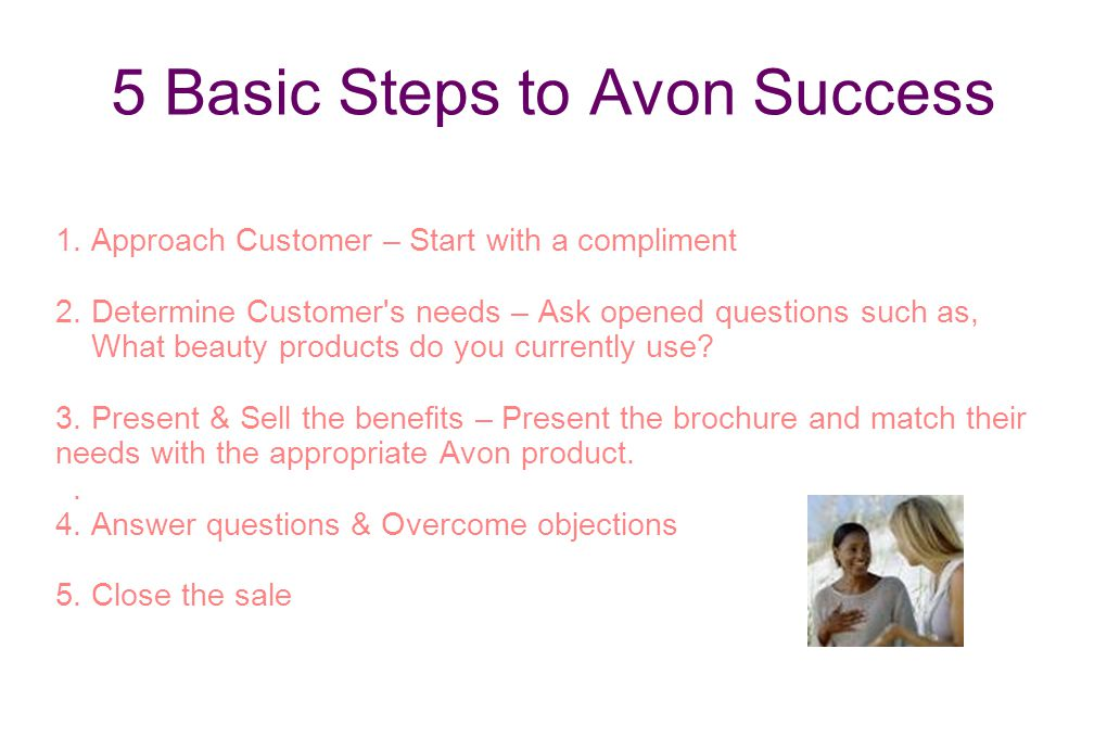 5 Basic Steps to Avon Success
