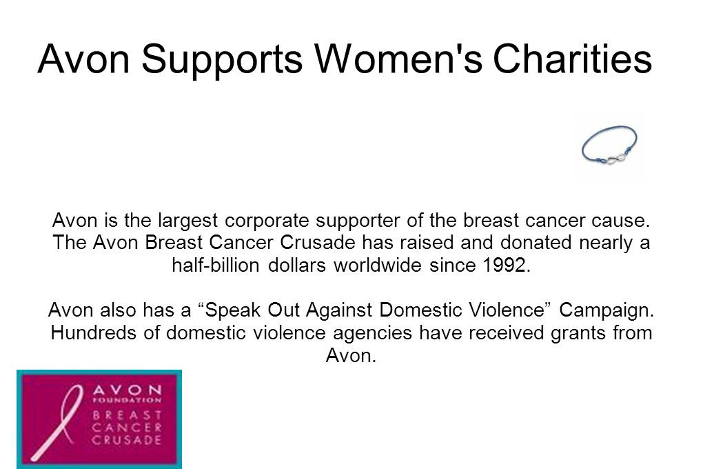 Avon Supports Women s Charities