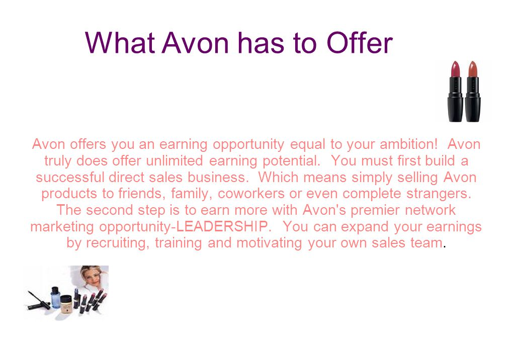 What Avon has to Offer