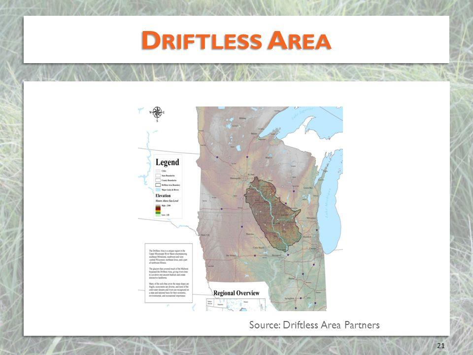Driftless Area Source: Driftless Area Partners