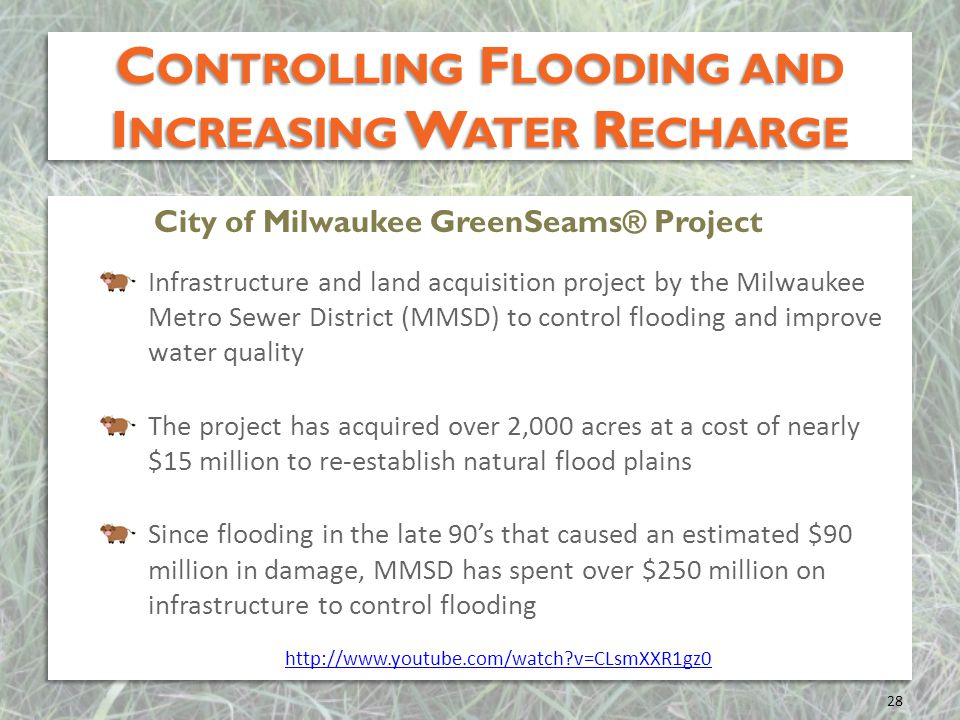 Controlling Flooding and Increasing Water Recharge