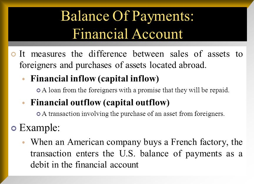 Balance Of Payments: Capital Account